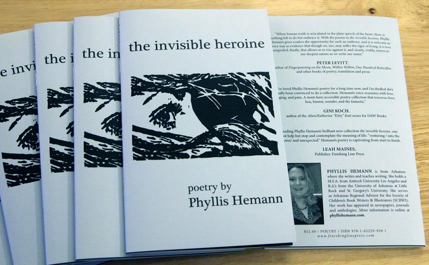 the invisible heroine book cover by Phyllis Hemann